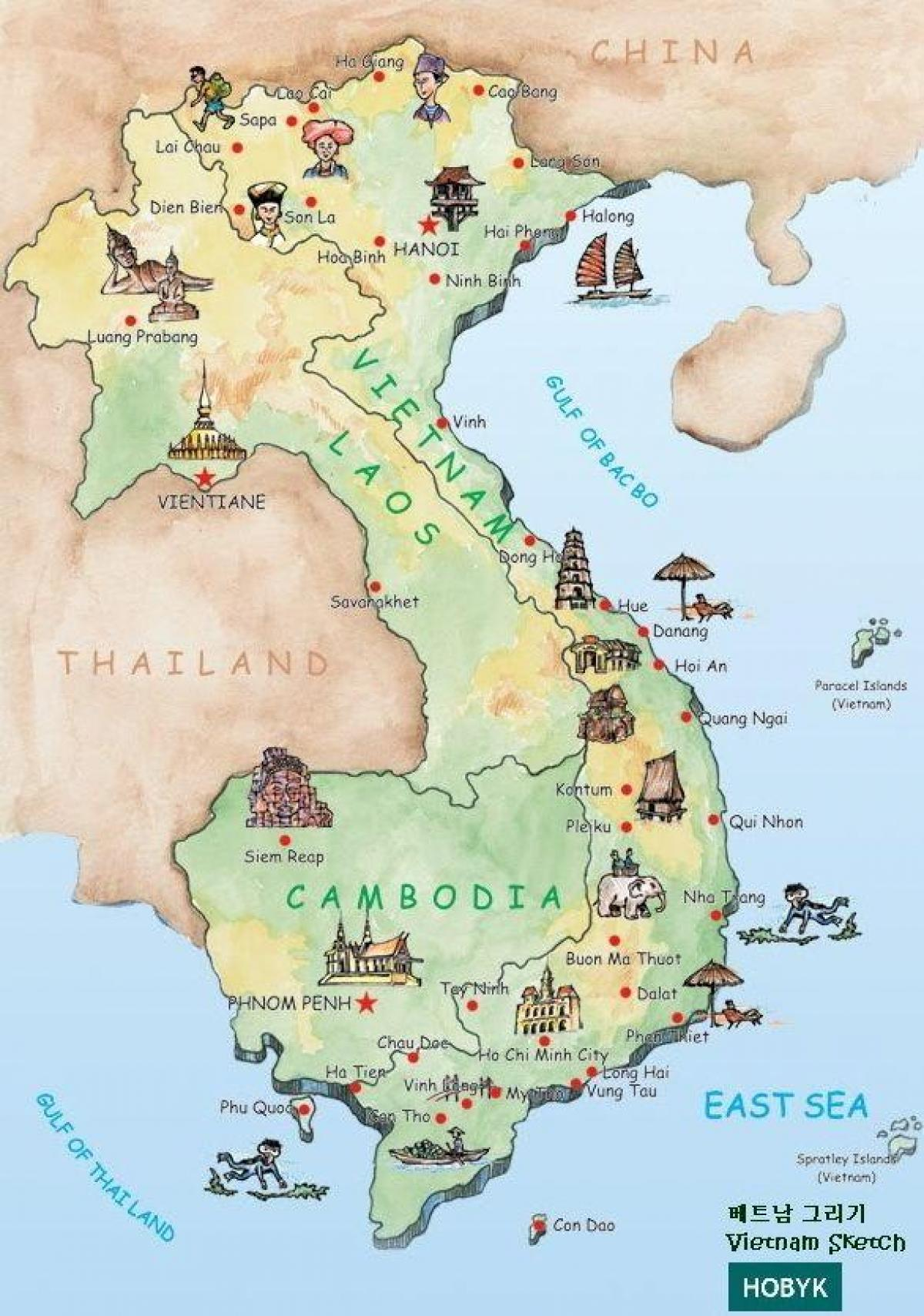 laos attractions de la carte