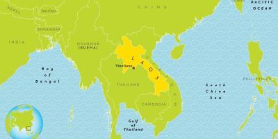 Carte Du Monde Laos.Laos Carte Cartes Laos Asie Du Sud Est Asie